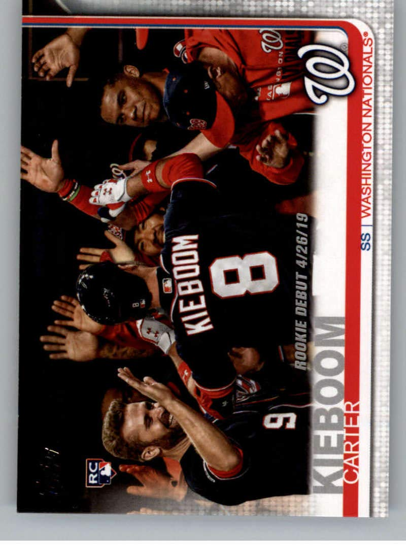 2019 Topps Update #US208 Carter Kieboom Washington Nationals RC Rookie Official Baseball Trading Card Series 3