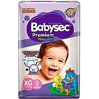 Fraldas descartáveis Babysec Premium Galinha Pintadinha Flexi Protect, 12 Unidades, Tamanho XG 11 - 14 Kg