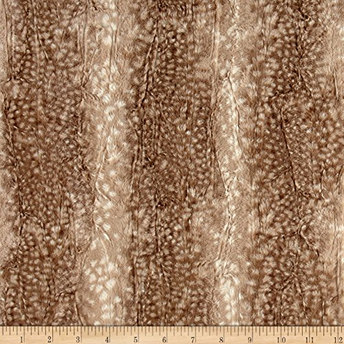 E.Z Fabric Minky Ocelot Snuggle Fawn Fabric By The Yard