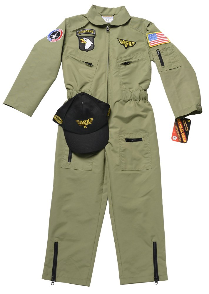 Aeromax Jr. Fighter Pilot Suit with Embroidered Cap, Size 6/8. by Aeromax (Image #6)