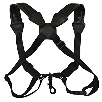 Amazon Com Longtai Saxophone Shoulder Strap Pu Padded Back Harness
