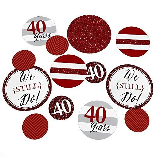 40th Anniversary Set (We Still Do - 40th Wedding Anniversary Party Table Confetti Set - 27)