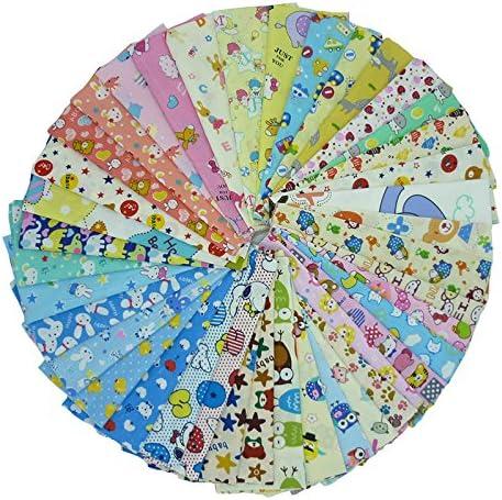 40 piezas de 20 cm x 25 cm tela de algodón estampado de dibujos ...