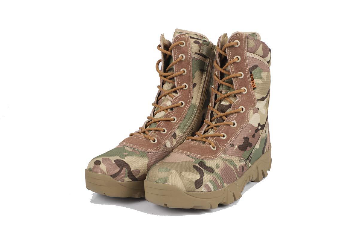 Adong  Herren Desert Stiefel Jagdschuhe wasserdicht High Rise Jungle Trekking Schuhe Non Slip Breathable Outdoor Schuhe,A,42EU