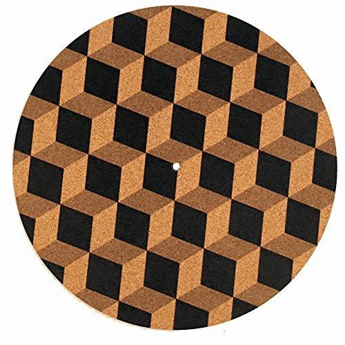 Taz Studio: Turntable Slipmat - Specially designed Cork.cubes pattern [並行輸入品] B078J1CRG2