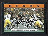 #6: Walter Payton autograph signed 1985 Topps card #22 Bears Nice!