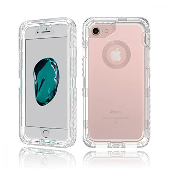 sale retailer 319b1 5d6c6 iPhone 7 Plus, 6S Plus, 6 Plus Transparent Armor Defender Case (Clear)