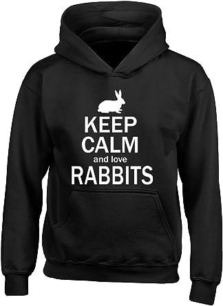 Keep calm and love Rabbit Hoodie