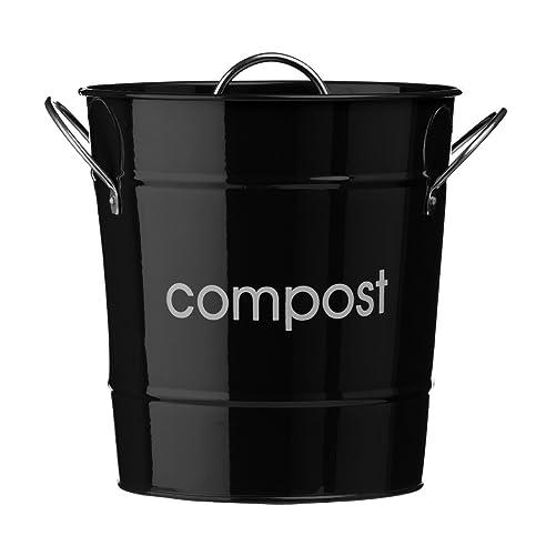 Komposteimer aus verzinktem Stahl (pulverbeschichtet) mit Zink ...