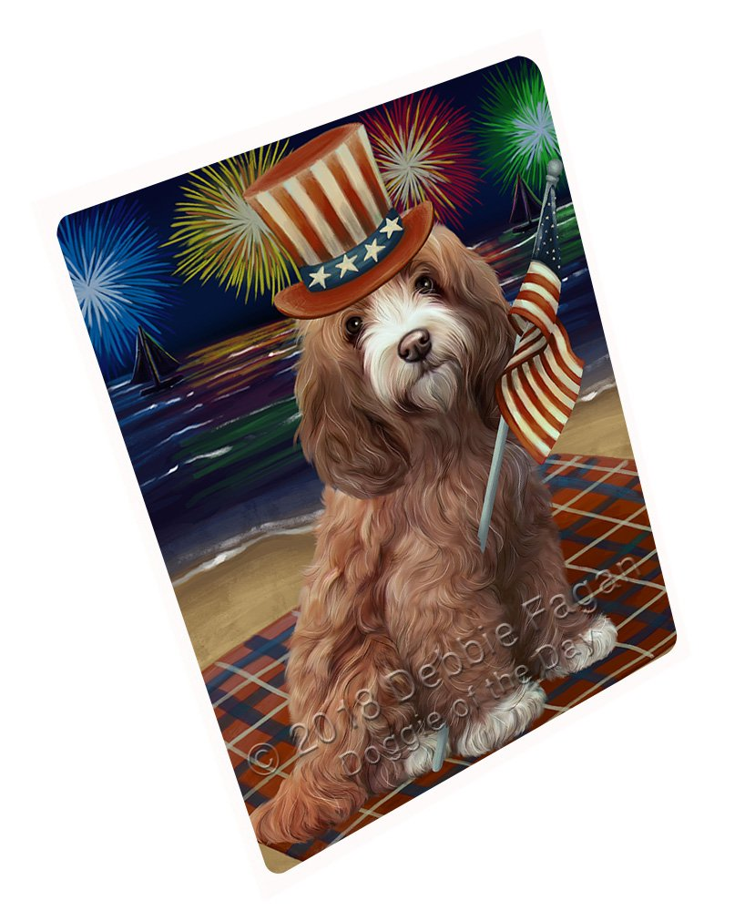 Doggie of the Day 4th of July Independence Day花火Cockapoo犬毛布blnkt88041 60X80 Woven DOTD-BLNKT-A88048 B07FRC6WC8  60X80 Woven