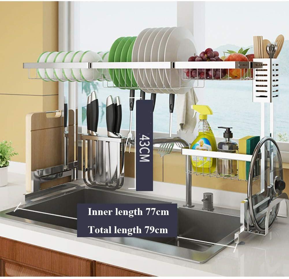 以上 シンク 食器棚 ステンレス鋼,食器棚 を使用 カトラリーホルダー,さびない 皿の水切り,主催者 カウンター キッチン シルバー 79cm