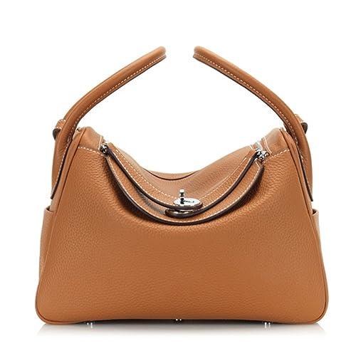 Macton Handbag Genuine TOGO Leather Women Crossbody Bag MC-9005 (Brown) 8f704fa8dcc61