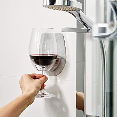 Cuekondy 2019 New Bathroom Bathtub Wine Glass Holder for Bath & Shower Portable Plastic Home Cupholder (Gray)