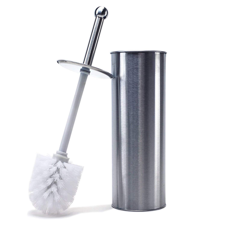 Huji Stainless Steel Toilet Brush and Holder for Bathroom (1, Stainless Steel Toilet Brush) by Huji