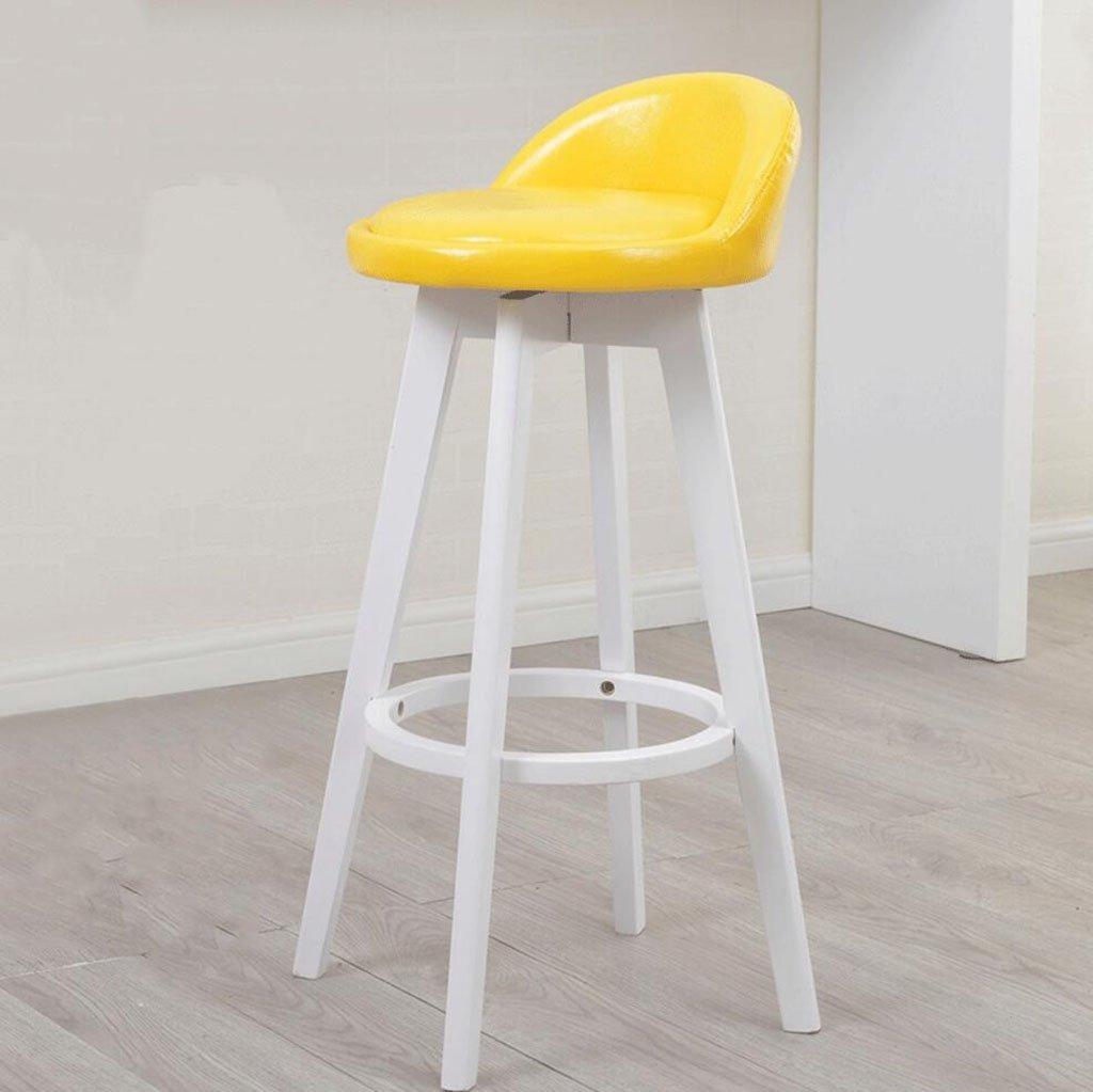 Nimm einen einen einen Stuhl Massivholz-Barhocker Rotierenden Barhocker Barhocker Barhocker Hochstuhl Fronthocker High 53cm, hohe 63cm, hohe 73cm (Farbe    4, größe   High 63CM) B0781N48LY   Der neueste Stil  5f9326