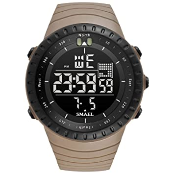 Blisfille Reloj Hombre Numeros Grandes Reloj Acero Militar Reloj Digital Zafiro Reloj de Mujer Reloj Deporte