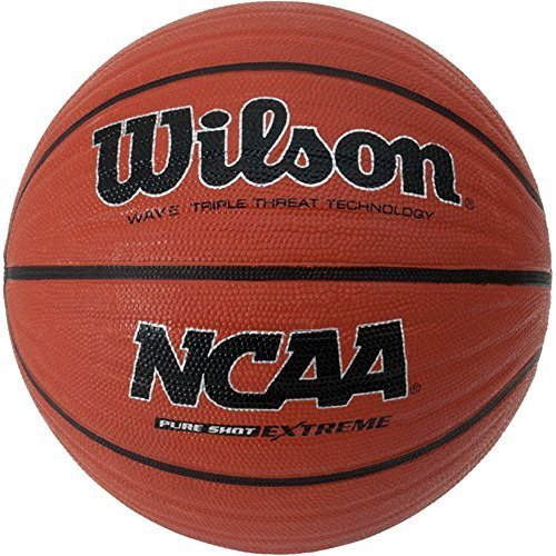 Wilson Pure Shot Extreme 28.5'' Basketball Wave Triple Threat Technology Brown Wilson Sporting Goods by Wilson
