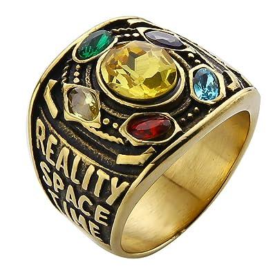 Valily Marvel Avengers thanos anillos oro infinito Power ...