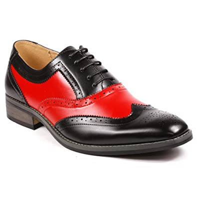e20a76a096e8a Amazon.com | UV SIGNATURE PA002 Men's Two Tone Perforated Wing Tip Lace Up Oxford  Dress Shoes | Oxfords