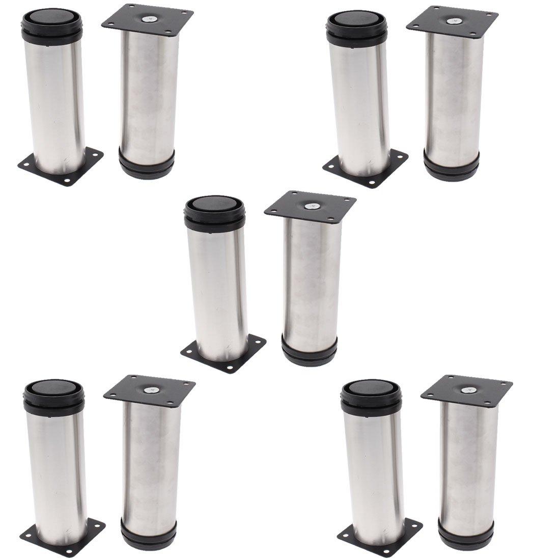 uxcell Cupboard Sofa Cabinet 50mm x 150mm Adjustable Plinth Leg 10pcs