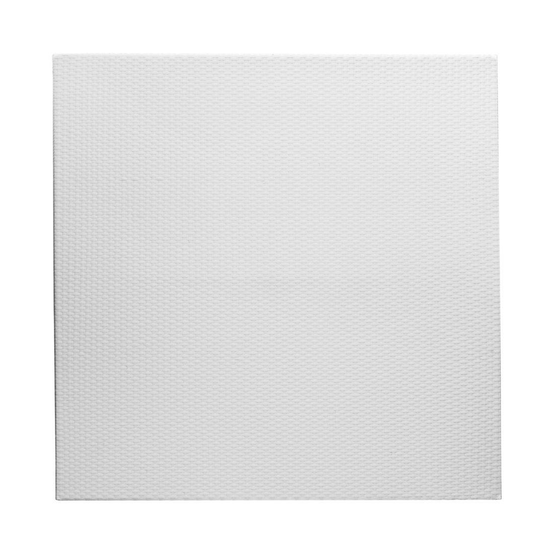 Gartenfreude Polyrattan Zaun Element 180 x 180 cm, 1 Stück, weiß, 2550-1015-208