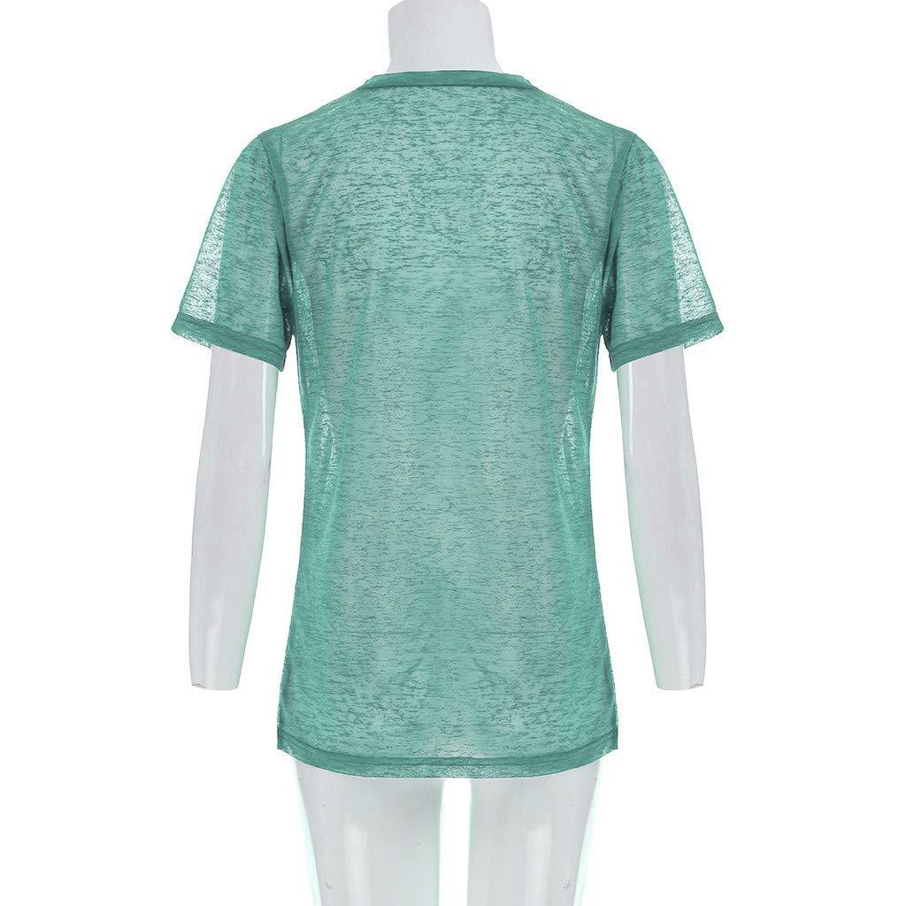 Wave166 Mujeres Verano Camisetas Pullover Casual Estrella Camisa ...