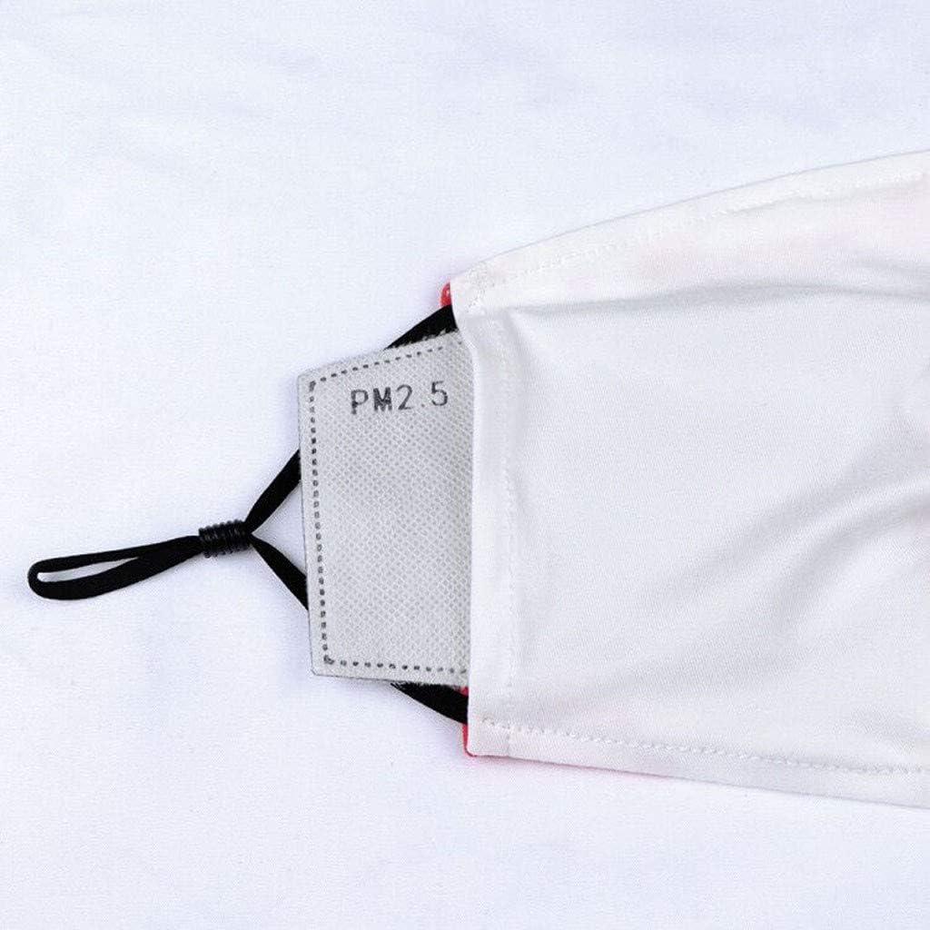 5 piezas Bandana con estampado floral retro Protecci/ón facial exterior Unisex Pa/ñuelo lavable a prueba de polvo reutilizable Pasamonta/ñas Mujer con Orejeras