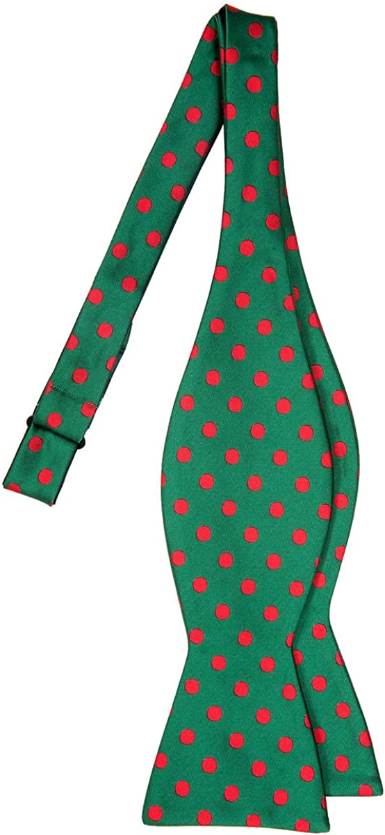 Retreez Classic Polka Dots Woven Microfiber Self Tie Bow Tie Various Colors