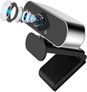 1080P Webcam with Microphone for Desktop, A-Zone HD PC Webcam Laptop Plug and Play USB Webcam Streaming Computer Web Camera with 110-Degree View Angle, Desktop Webcam for Video Calling Recording