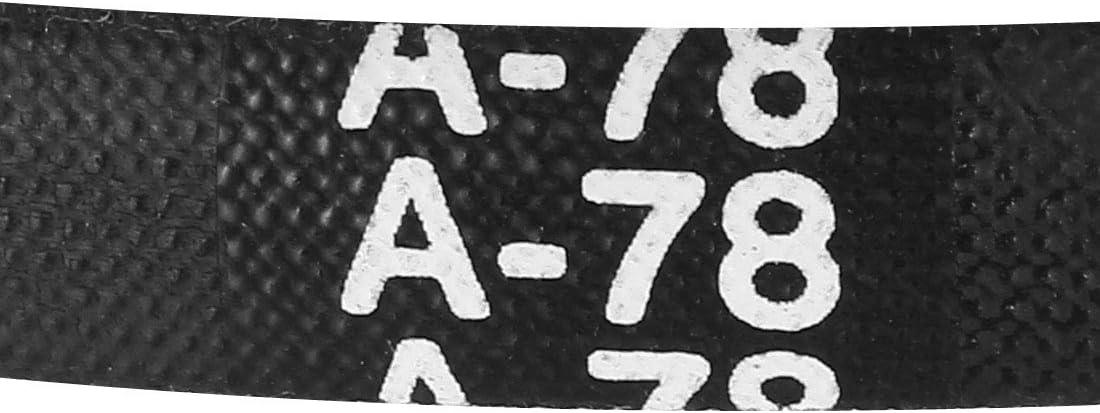 sourcing map A-72 Drive V-Belt Girth 72-inch Industrial Power Rubber Transmission Belt