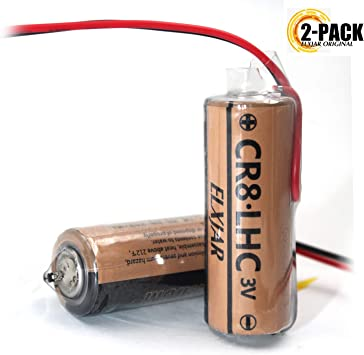Pack de 2 baterías de Litio de 3 V 3000 mAh para Fuji FDK CR8.LHC 17430, Toto CR8-LHC TH559EDV410R: Amazon.es: Electrónica