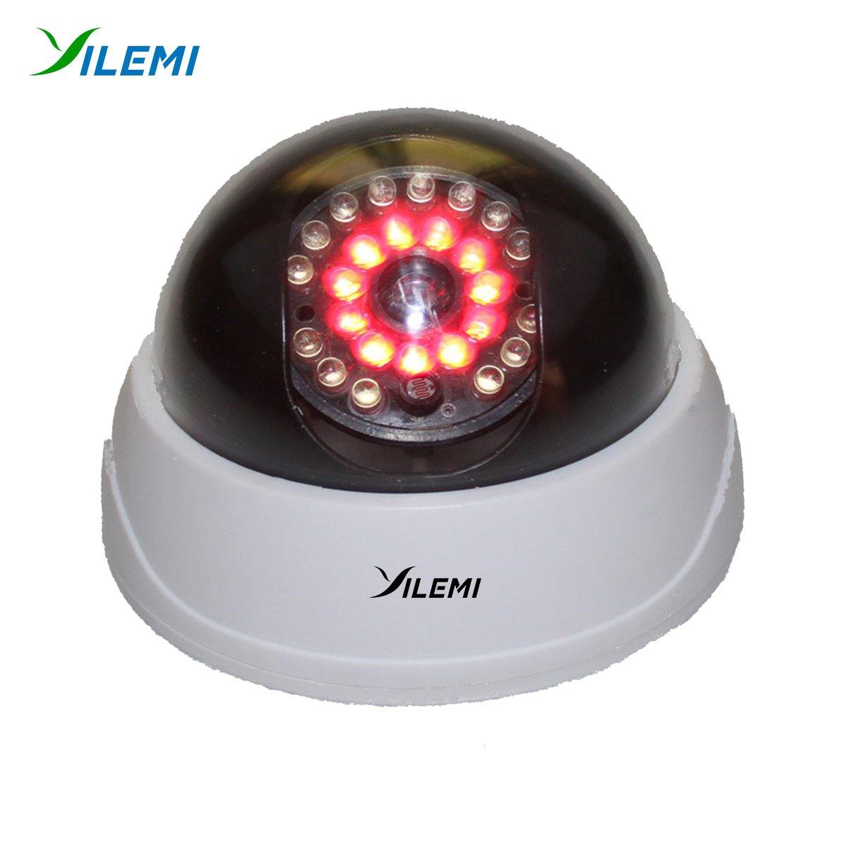 yilemi FakeカメラAAバッテリーfor LEDダミー家ホームセキュリティ監視カメラ屋内CCTVドームカメラ B07D11JD27