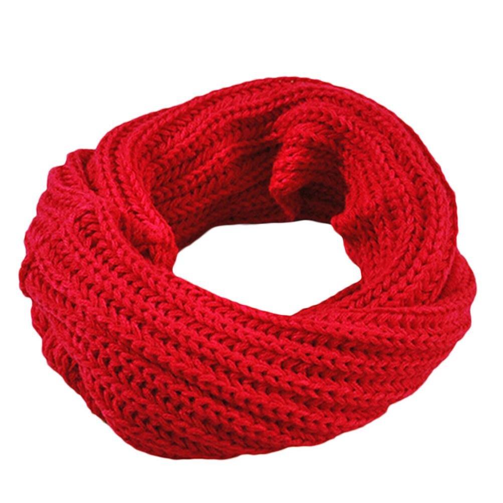 Bomdes Women Girls Knitted Circle Scarf Shawl Wrap Autumn Winter Warm Collar