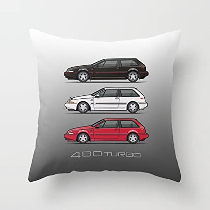 WUMIARUA Throw Pillow Cases Stack of Volvo 480 Turbos with Simple Lots of Styles for Home