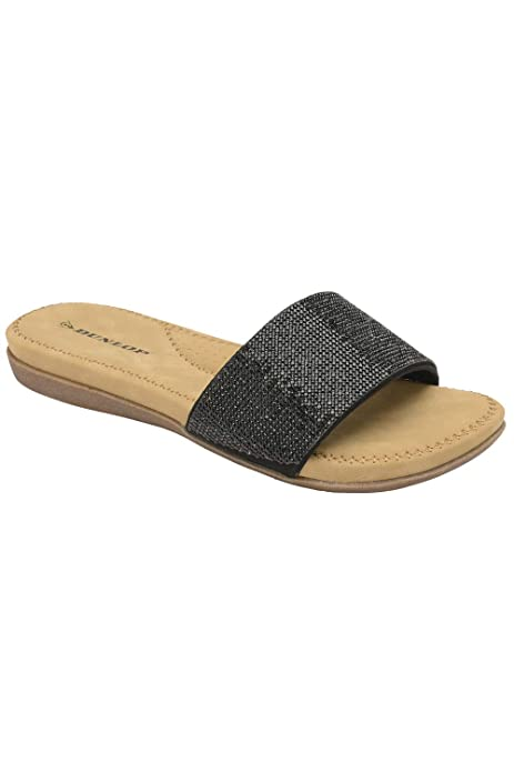 cafc5a1d75b2 Dunlop Flip Flops Toe Post Slip On Sandals Flat Cushioned  Amazon.co ...