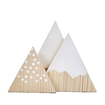 Steellwingsf Lot de 3 décorations triangulaires de style montagne ...