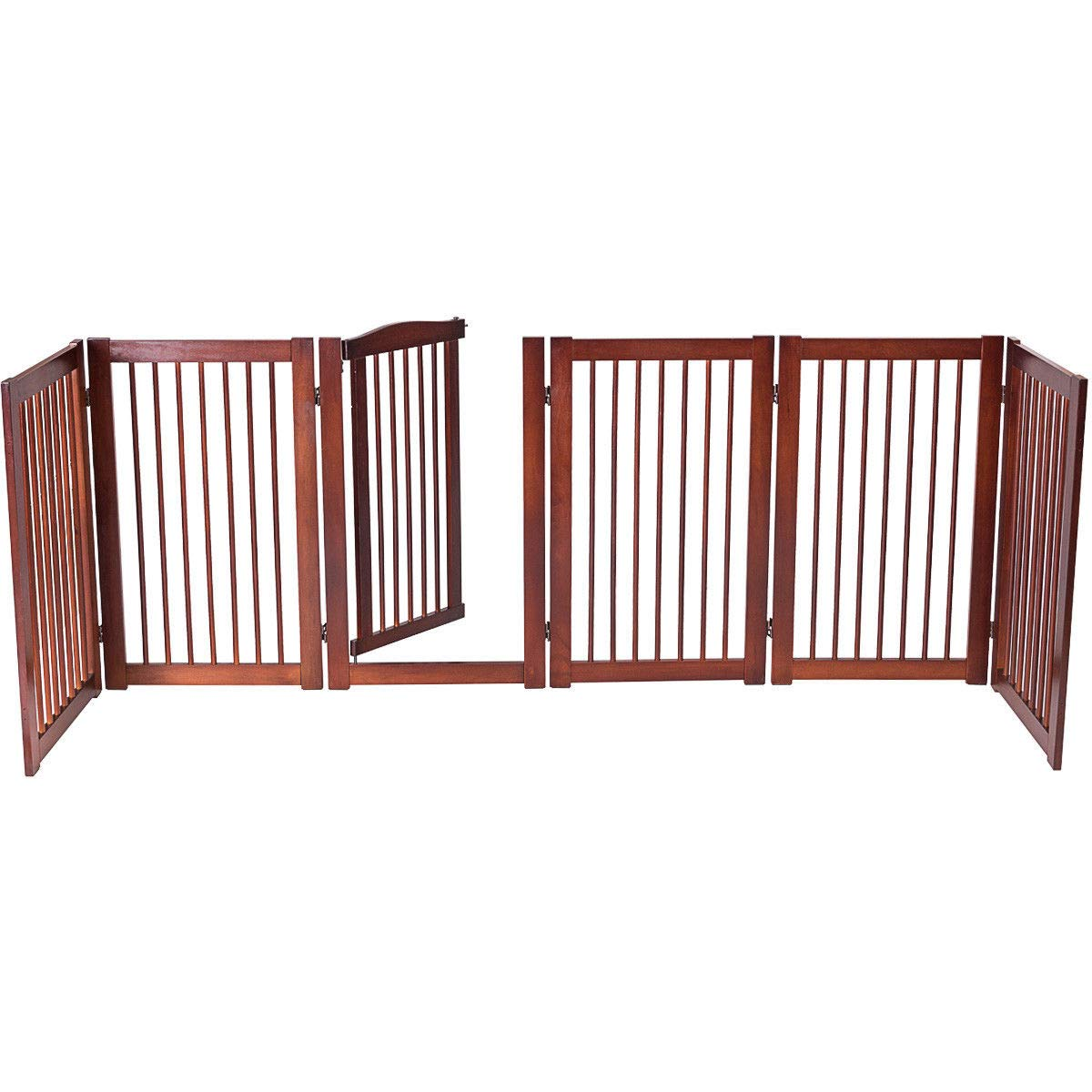 Giantex 36'' Configurable Folding Free Standing Panel Wood Pet Dog Safety Fence w/Gate (133'' W) by Giantex (Image #4)
