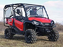 Installs In 5 Minutes! SuperATV Heavy Duty Scratch Resistant Full Windshield for Honda Pioneer 1000//1000-5 - Clear Hard Coated for Extreme Durability 2016+