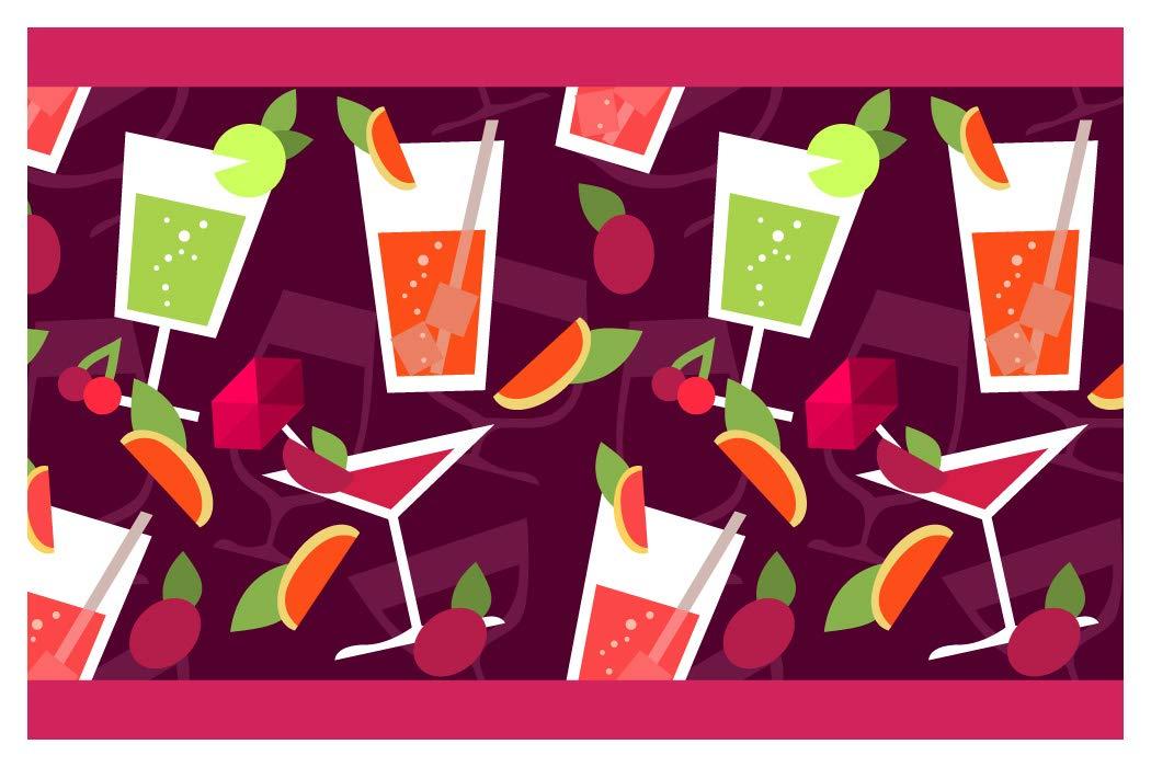 I-love-Wandtattoo Bordo Autoadesivo Motivo Cocktail colorato Le Bevande Confine Cucina decorazion