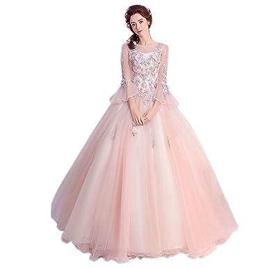 6c5c4c6f13113 カラードレス 長袖 花嫁ドレス ロング ウエディングドレス 二次会 パーティードレス プリンセス ウェディングドレス 披露宴 カクテル