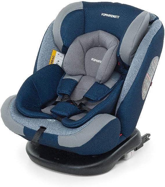 Foppapedretti Iturn duoFIX Seggiolino Auto Girevole 360°, Gruppo 0+/1/2/3 (0-36 kg), per bambini dalla Nascita a 12 Anni, Sky