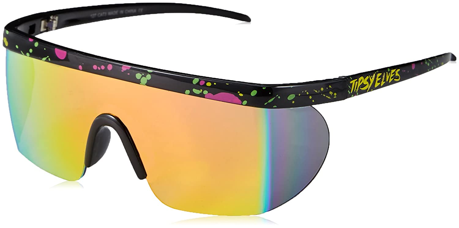 Unisex Performance Sport Style Retro Mirrored Sunglasses