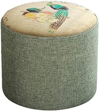 Amazon Com Animal Print Low Cylinder Stool Modern Home Fabric