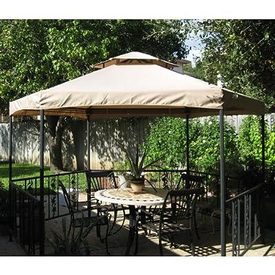 Garden Winds Hexagon Gazebo Replacement Canopy Top Cover: Garden & Outdoor