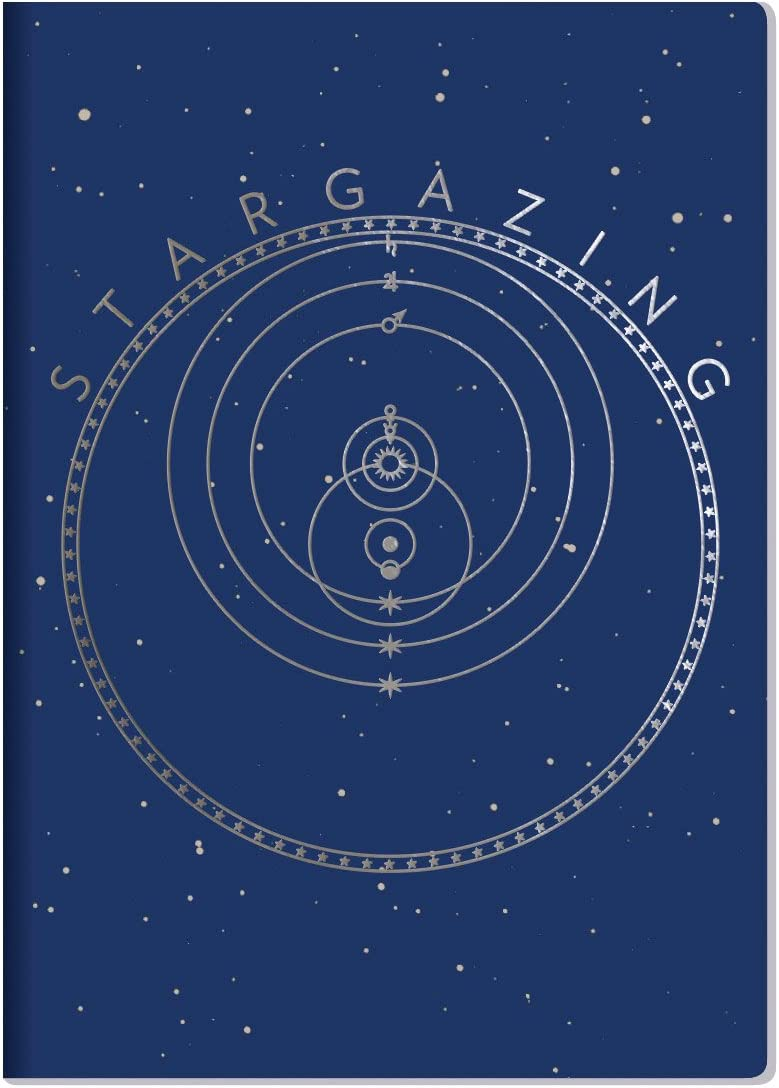 """Stargazing Notebook - Includes Constellation Maps and Astrolabe - 7"""" x 4.75"""""""