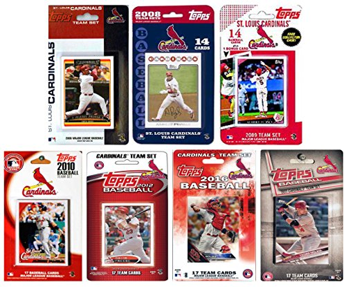 C&I Collectables MLB St. Louis Cardinals Men's 7 Different Licensed Trading Card Team Sets, -