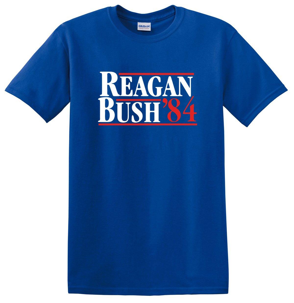 New York Fashion Police Reagan Bush 84 T Shirt Republican Presidential Election Campaign G