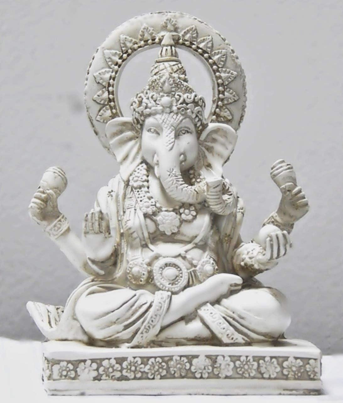 bombayjewel Ganesha Statues Hindu Good Luck God 5 inch