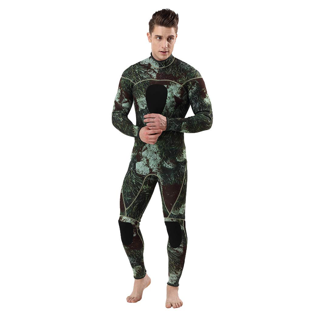 Mr.Macy メンズ ウェットスーツ 3mm フルボディ 保温 冬/夏 迷彩 スーツ スーパーストレッチ ダイビングスーツ 水泳 サーフ シュノーケリング