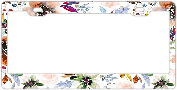 FLOWERS FLOWER Metal License Plate Frame Tag Holder Tag